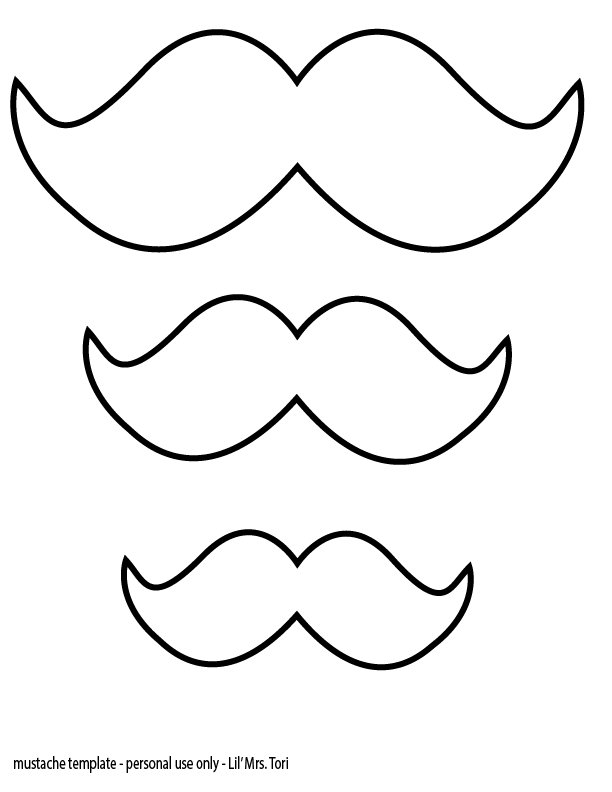 Beard Template Printable