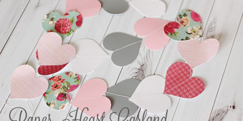 How to Make Your Own Heart Paper Garland + Template