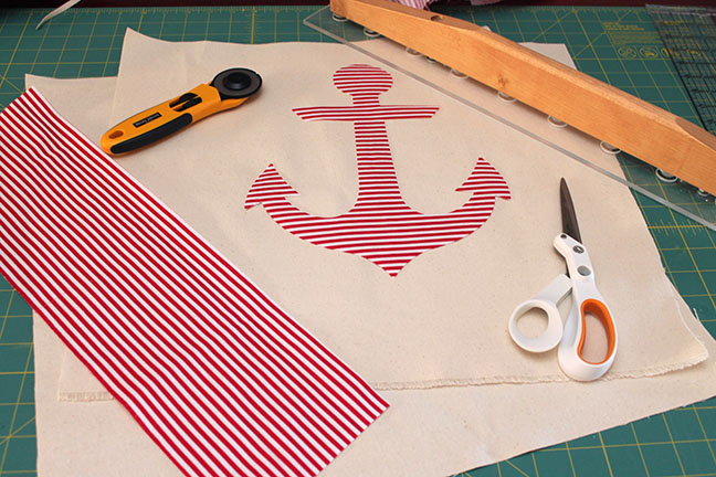 how to make your own anchor pillow