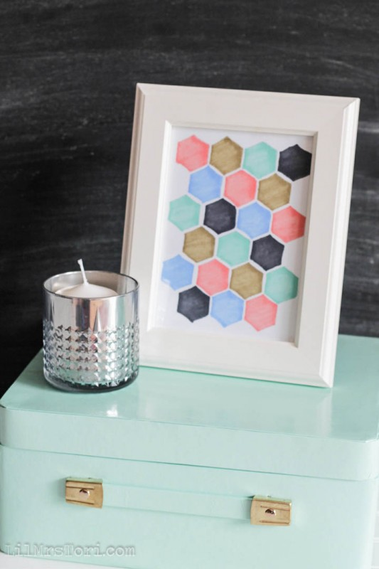 Easy Hexagon Art