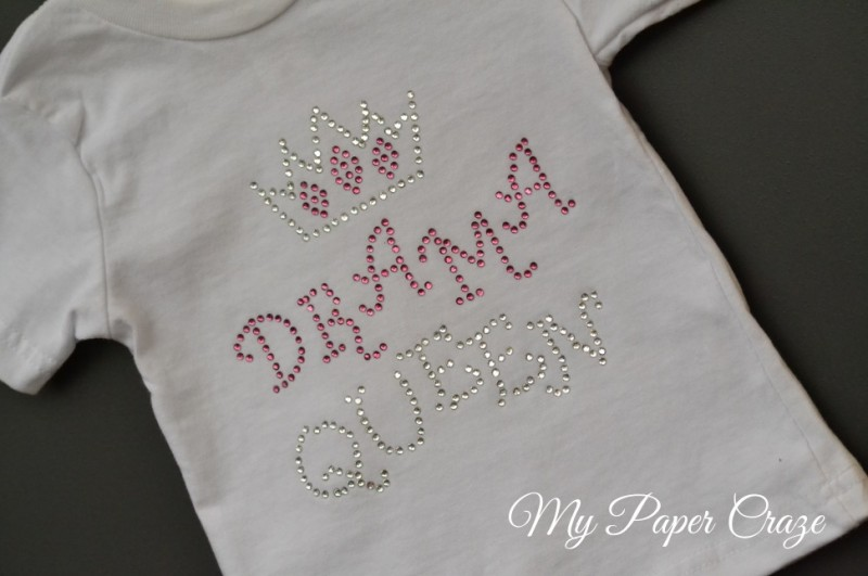 Drama-Queen-Rhinestone-Tshirt-with-Silhouette-by-My-Paper-Craze (1)