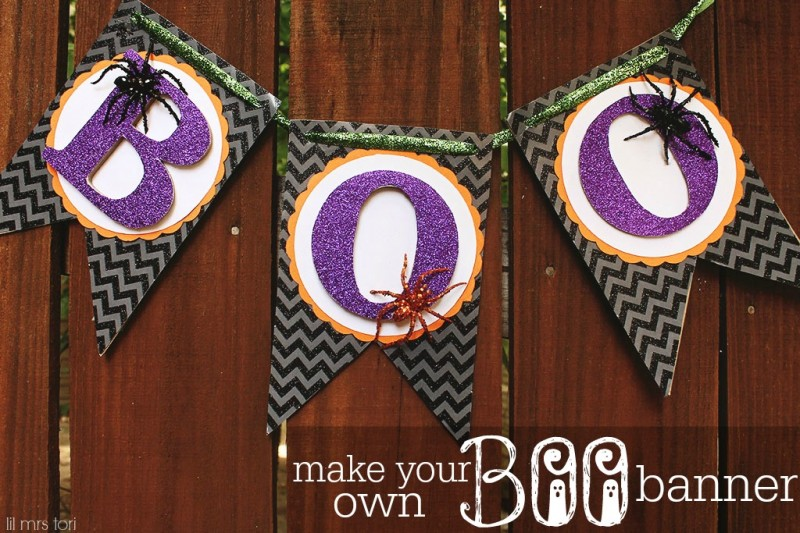 Make Your Own Halloween Boo Banner | Lil Mrs Tori